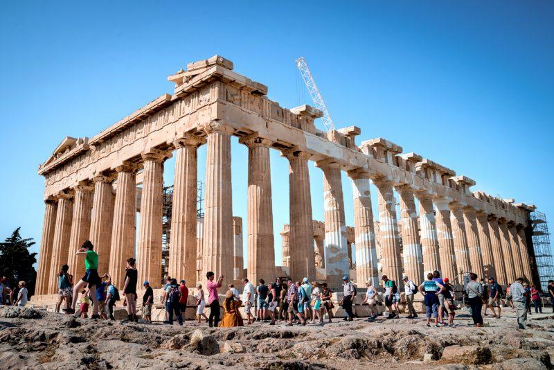 Fotografía del Partenón, Acrópolis de Atenas.