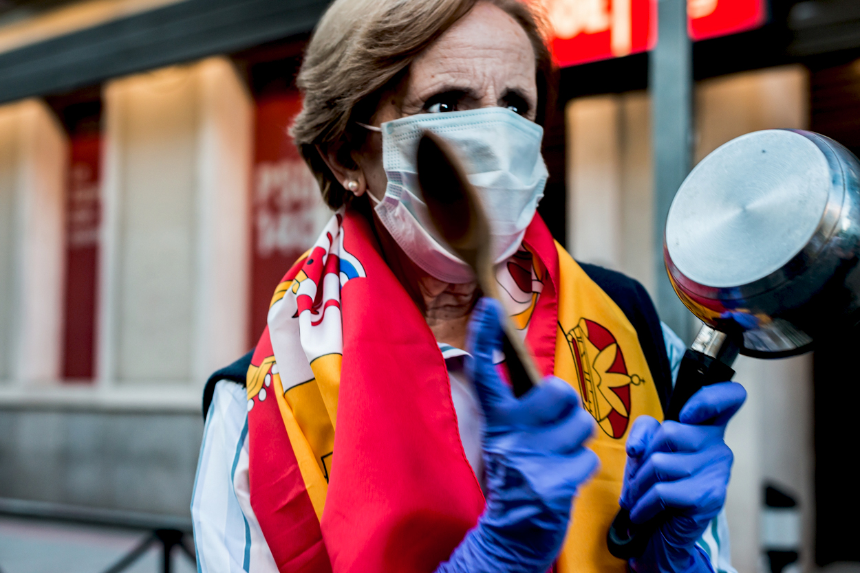 Manifestación contra el presidente Sanchez en Madrid